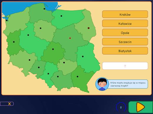 Topografia Polski - województwa i ich stolice